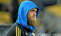Brad Shields in Super Rugby matchaction for the Hurricanes