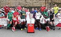 Captains posing ahead of the London Sevens tournament