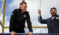 Jack Nowell on the seas with his Dad, Michael