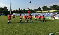England Counties prep for their game against Romania A