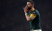 Willie le Roux scored a try for South Africa