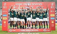 South Africa 7s team celebrating their win in Paris leg of HSBC World Rugby Sevens Series