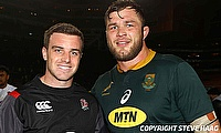 Duane Vermeulen (right) is set to make his debut in Japanese Top League