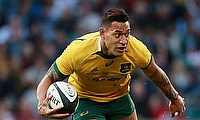 Israel Folau scored a double for Waratahs
