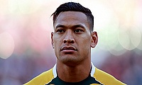 Israel Folau scored two tries in the game against Sunwolves