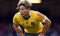 Michael Hooper scored the opening try for Australia in the game against South Africa
