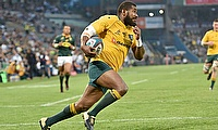Marika Koroibete in action for the Wallabies