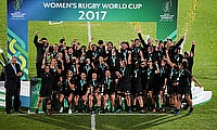 New Zealand team celebrating their win in the 2017 Women's World Cup
