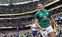 Jacob Stockdale was the only try-scorer in the game
