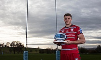 Ollie Thorly was named Gallagher Premiership Player of the Month