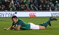 Jacob Stockdale has scored 12 tries from 14 Tests for Ireland