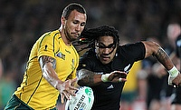 Quade Cooper (left) kicked nine points