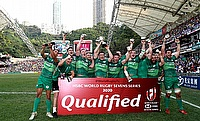 Ireland 7s celebrating their win in the Men's Qualifiers