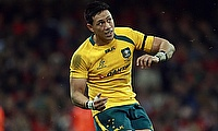 Christian Leali'ifano	kicked four conversions for Brumbies