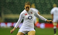 Emily Scarratt scored the opening try for England