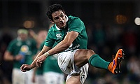 Joey Carbery was replaced in the 50th minute during the game against Italy