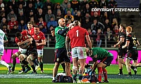 Joe Marler has a head injury seen to during the 2017 DHL Lions Series rugby union match between the NZ Maori and British & Irish Lions in 2017