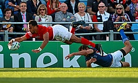 Telusa Veainu scored Tonga's final try in the game