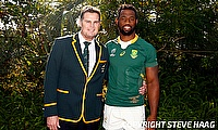 Rassie Erasmus (Head Coach) and Siya Kolisi (c) guided South Africa to third World Cup victory