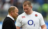 Eddie Jones (left) appointed Dylan Hartley as England's captain