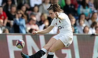 Emily Scarratt was one of the try-scorer for England