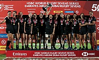 New Zealand Women celebrating their win in Dubai 7s