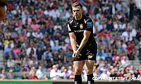 Joe Simmonds kicked four conversions during the Champions Cup game against La Rochelle