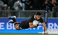 Richie Mo'unga was one of the try-scorer for Crusaders