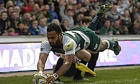 Telusa Veainu was one of the try-scorer for Leicester