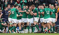 Ireland are positioned third in the Six Nations table