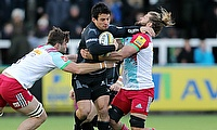 Juan Pablo Socino (centre) also played for Newcastle Falcons