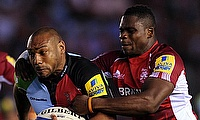 Jordan Turner-Hall (left) played for Harlequins between 2004 and 2015