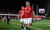Owen Farrell (centre) is among the top contenders to lead the Lions next year