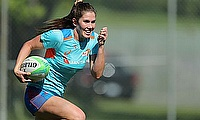 Australia's Charlotte Caslick during training session