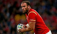 Jamie Roberts was one of the try-scorer for Dragons