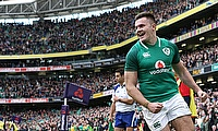 Jacob Stockdale is sidelined with a knee injury
