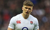 England captain Owen Farrell was unhappy about referee Pascal Gauzere's controversial decisions