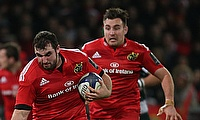 James Cronin (left) scored Munster's opening try