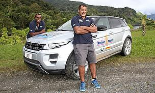 Viliame Satala and Alifereti Doviverata in Fiji with the RWC2015 tour