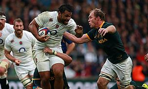 Billy Vunipola on the charge against the SpringBoks