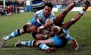 Anthony Watson helped Bath secure a 20-15 win over Glasgow