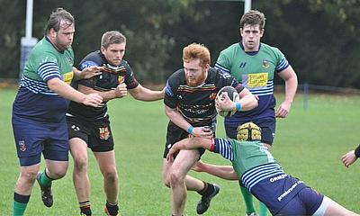 Ben Cromack breaking through the Ormskirk defence