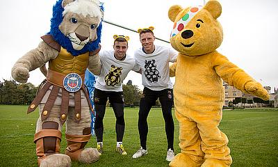 George Ford & Rhys Priestland show their support for BBC Children in Need