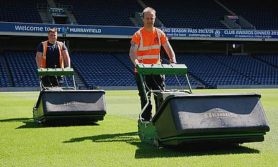 Jim Dawson, head groundsman for Scottish Rugby at the BTMurrayfield Stadium*