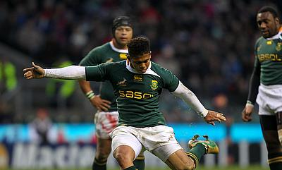 Elton Jantjies, South Africa's third-choice fly-half, kicked three penalties and three conversions