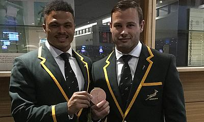 Francois Hougaard has been handed a medal after his selfless Rio gesture