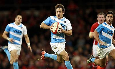 Nicolas Sanchez (centre) added 17 points for Argentina in the previous game against All Blacks.
