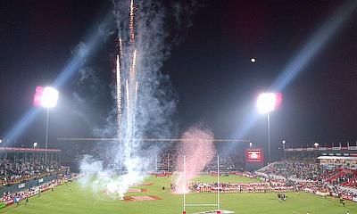 Firework at Dubai 7s
