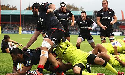 Saracens are three points clear at the top of the Premiership