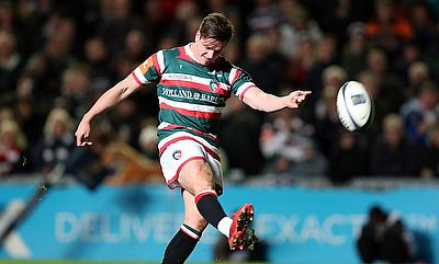 Freddie Burns kicked three penalties and a conversion in Leicester's win at Bristol
